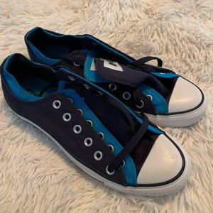 Converse double tongue blue 7